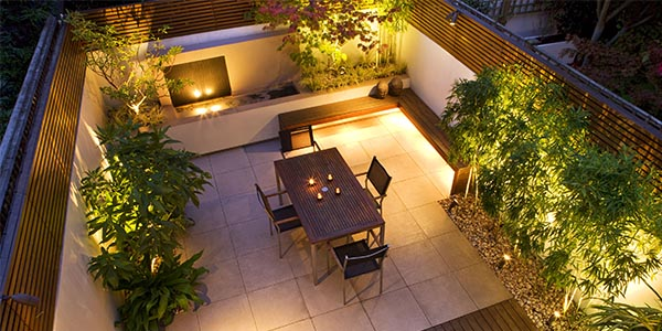 Garden Lighting design and installation in Gateshead